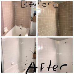 Rust Oleum Specialty 1 Qt White Tub And Tile Refinishing Kit 7860519 The Home Depot In 2020 Bathroom Tile Diy Diy Bathroom Remodel Bathroom Makeover