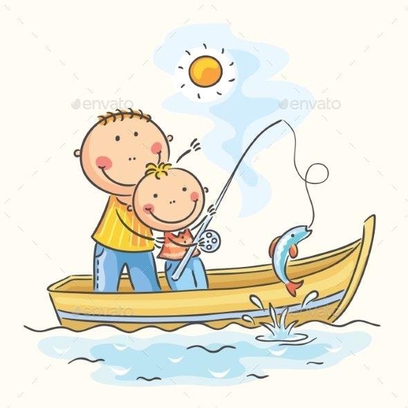 Two Kids Fishing Clipart, HD Png Download , Transparent Png Image - PNGitem
