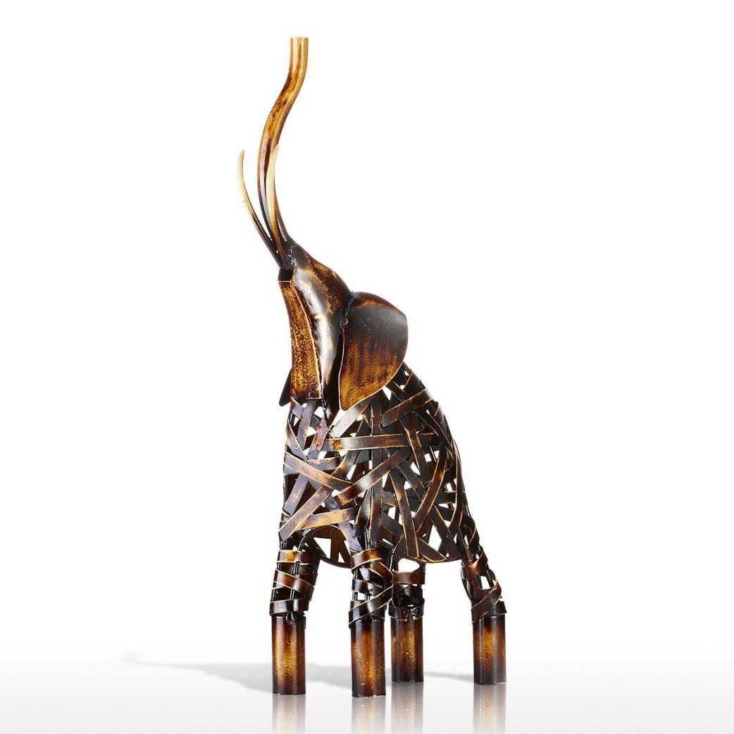 Metal Weaving Elephant Sculpture in 2018 | Bar Theme Décor ...