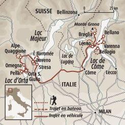 Sur Les Rives D Orta Majeur Et Come En 2020 Grands Lacs Carte