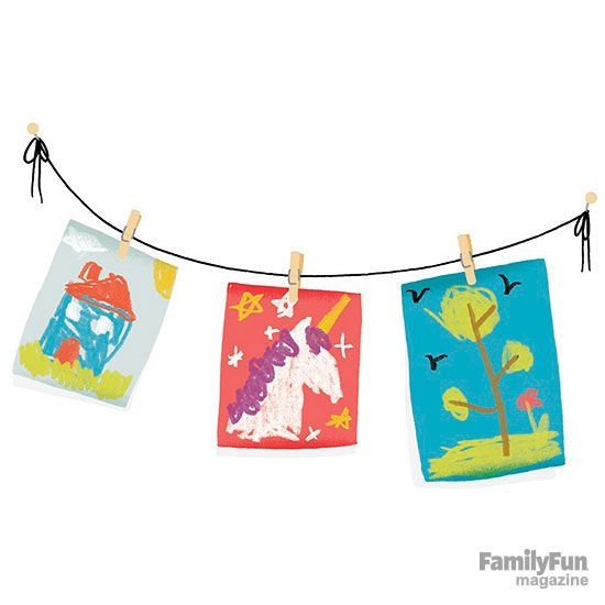 The Kids Clothesline Brilliant Our Readers Share How They Manage Their Kids' Artwork Sophie's Decorating Design