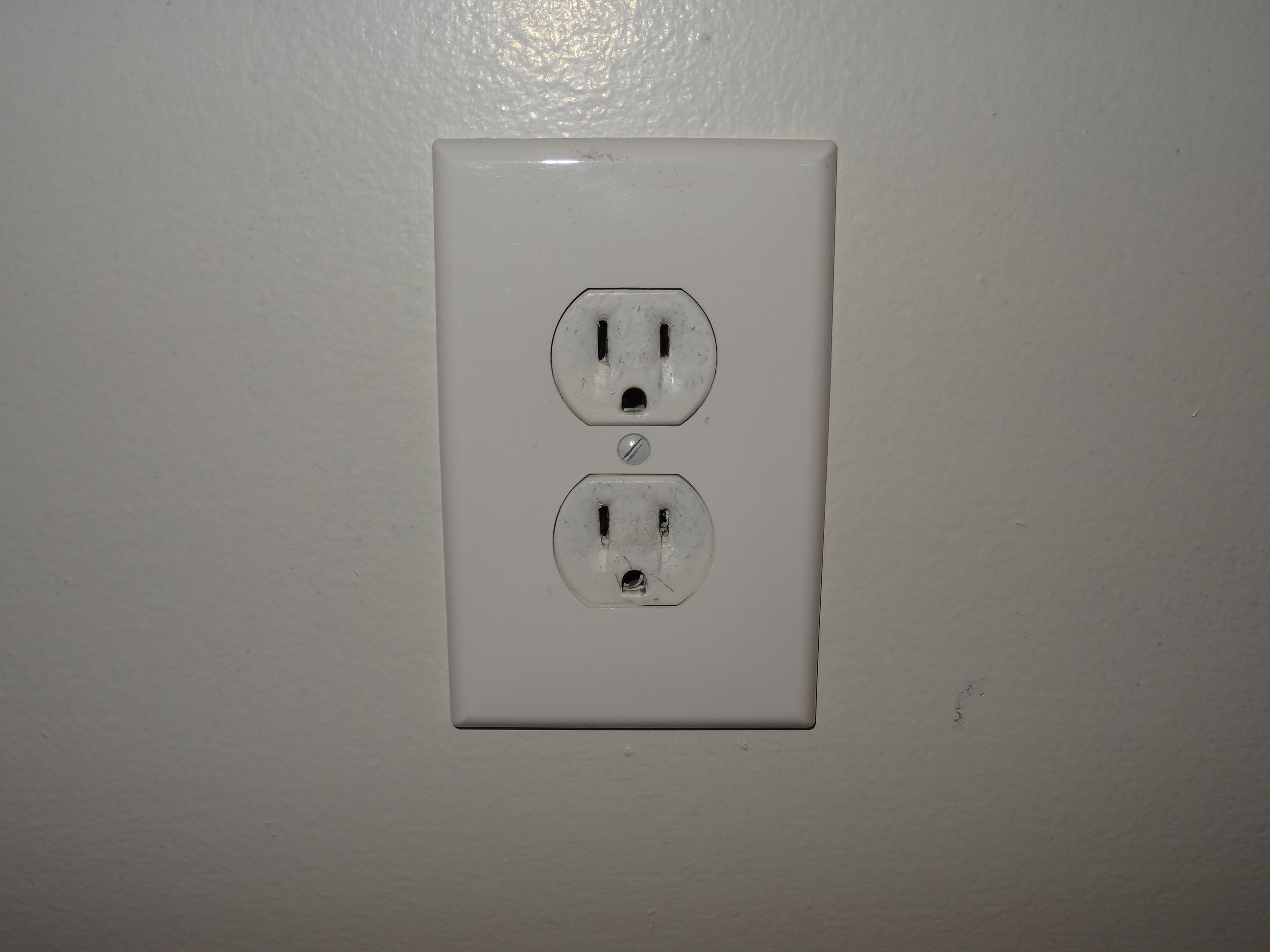 Painted Over Electrical Outlet Electrical Outlets Electricity Electrical System