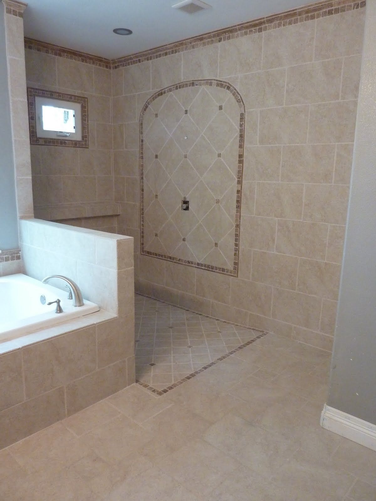 Doorless Walk In Shower | We Just Need To Get The Doorless Shower Glass In