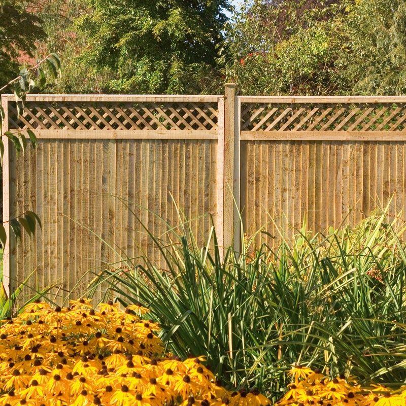 Pressure Treated Board Lattice Panel 1.83m · Decorative Fence PanelsGarden  ...