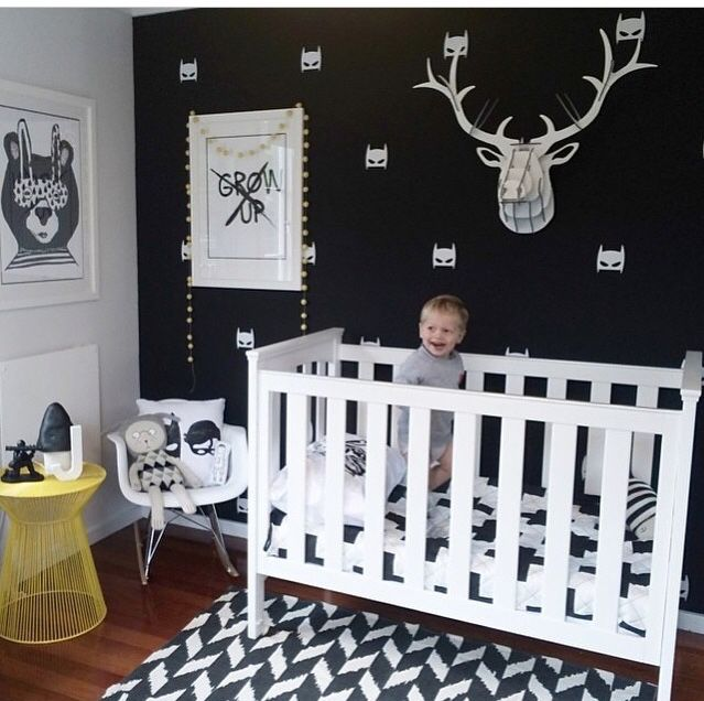Cute Baby Room Black And White
