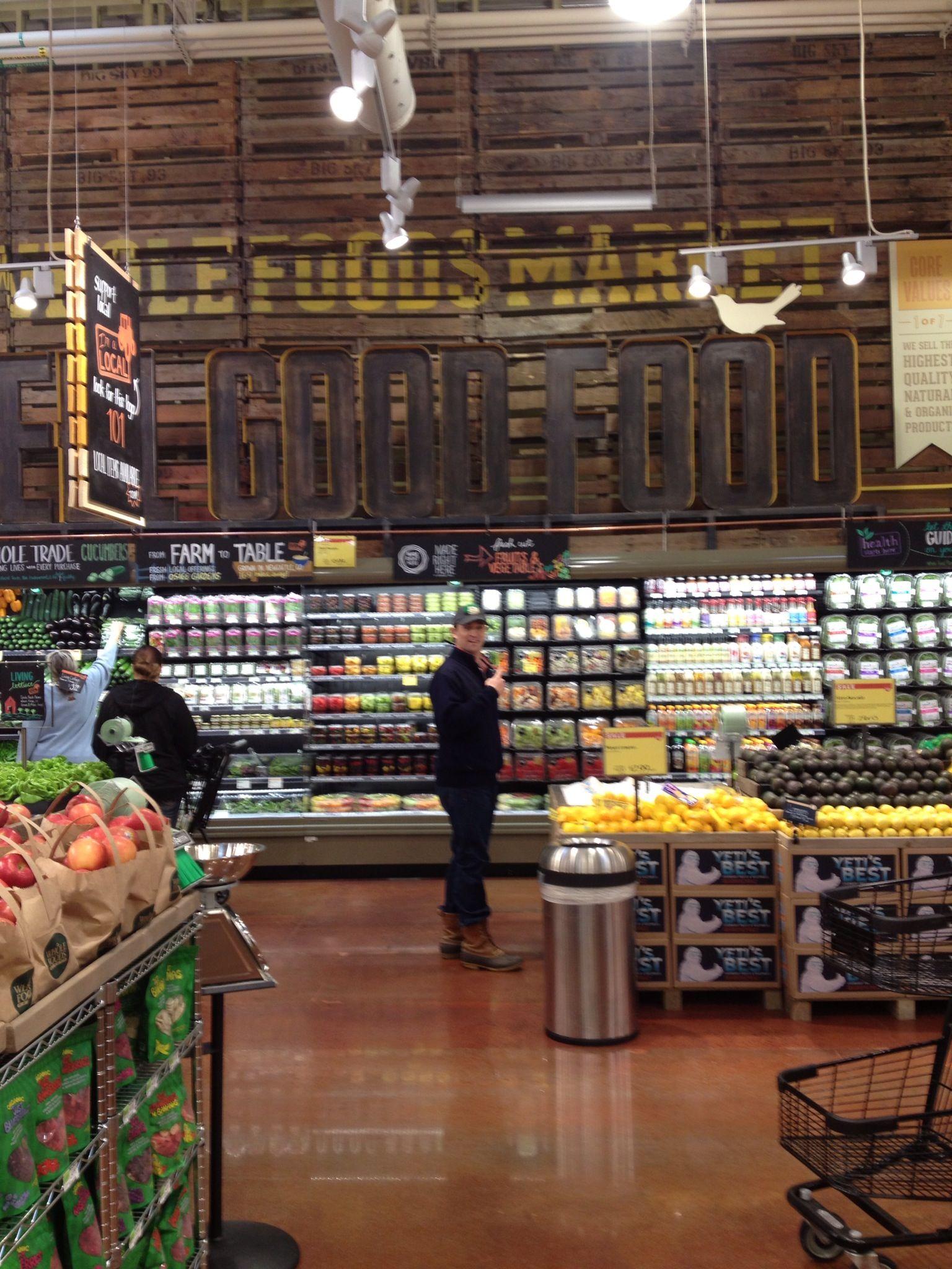 Pin Carrie Pallet Supermarket Design Food Retail Signage