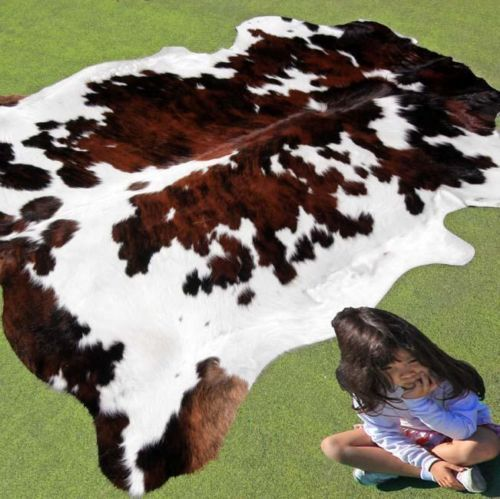 new cowhide rug large cow hide skin leather bull carpet animal throw steer