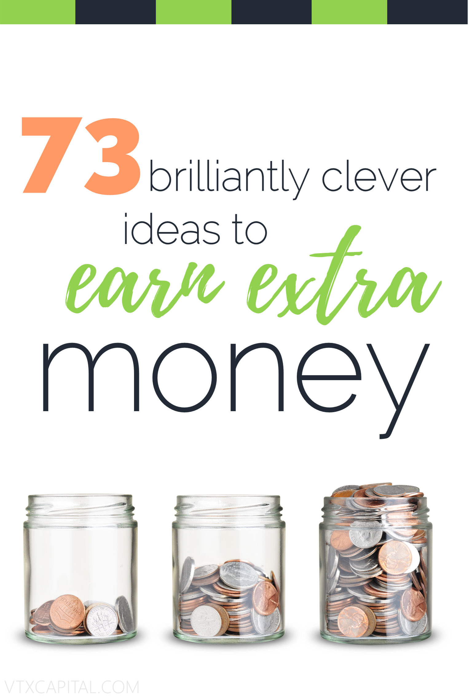 Money can buy you freedom in more ways than one, despite what people may say. Here is a list of our 73 favorite ways to make extra money