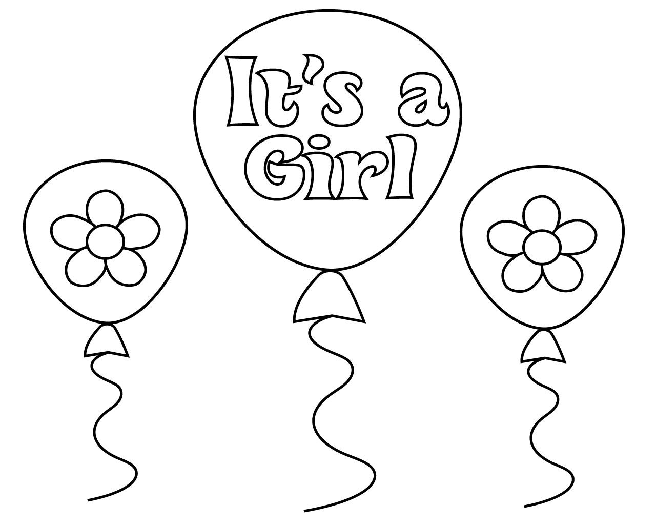 baby shower coloring pages for girl