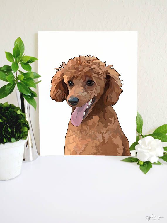 Miniature Poodle Art Print, Toy Poodle Painting, Poodle Wall Art ...