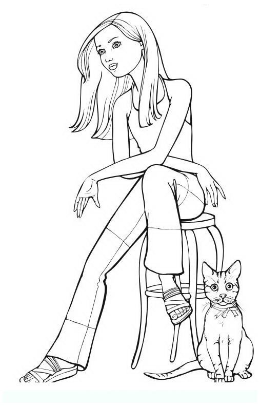 fashion girl coloring pages - photo#30
