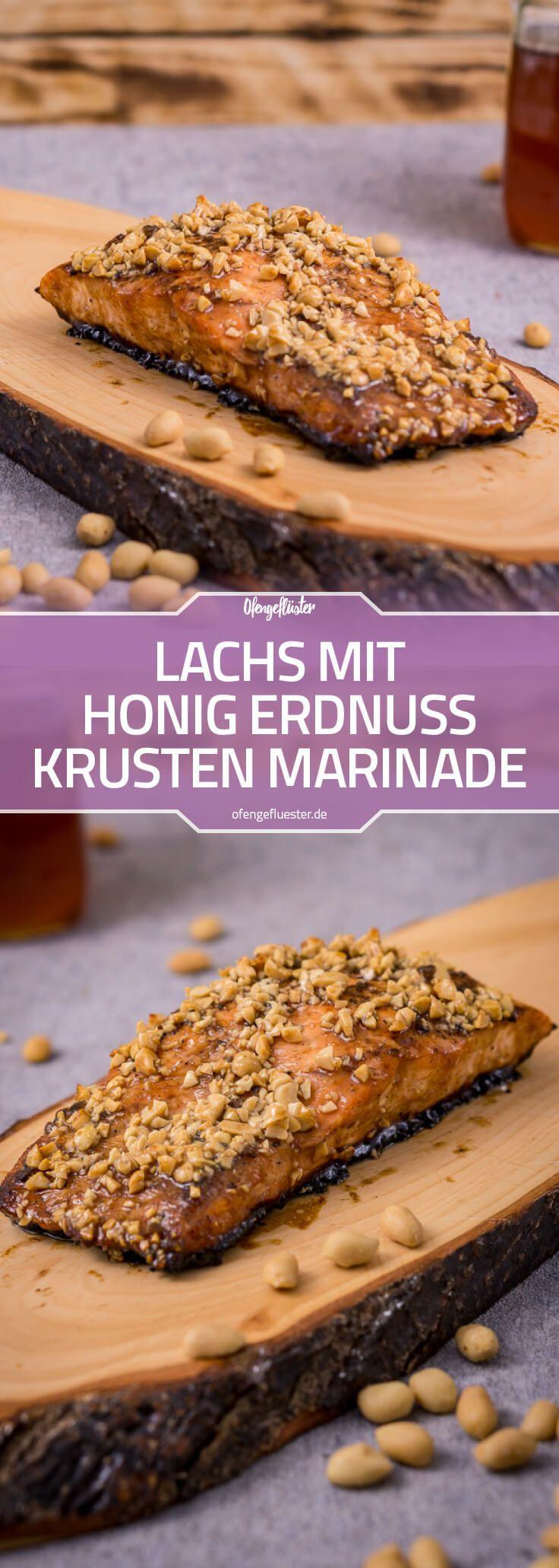 Lachs mit Honig Erdnuss Krusten Marinade vom Grill Rezept › Ofengeflüster