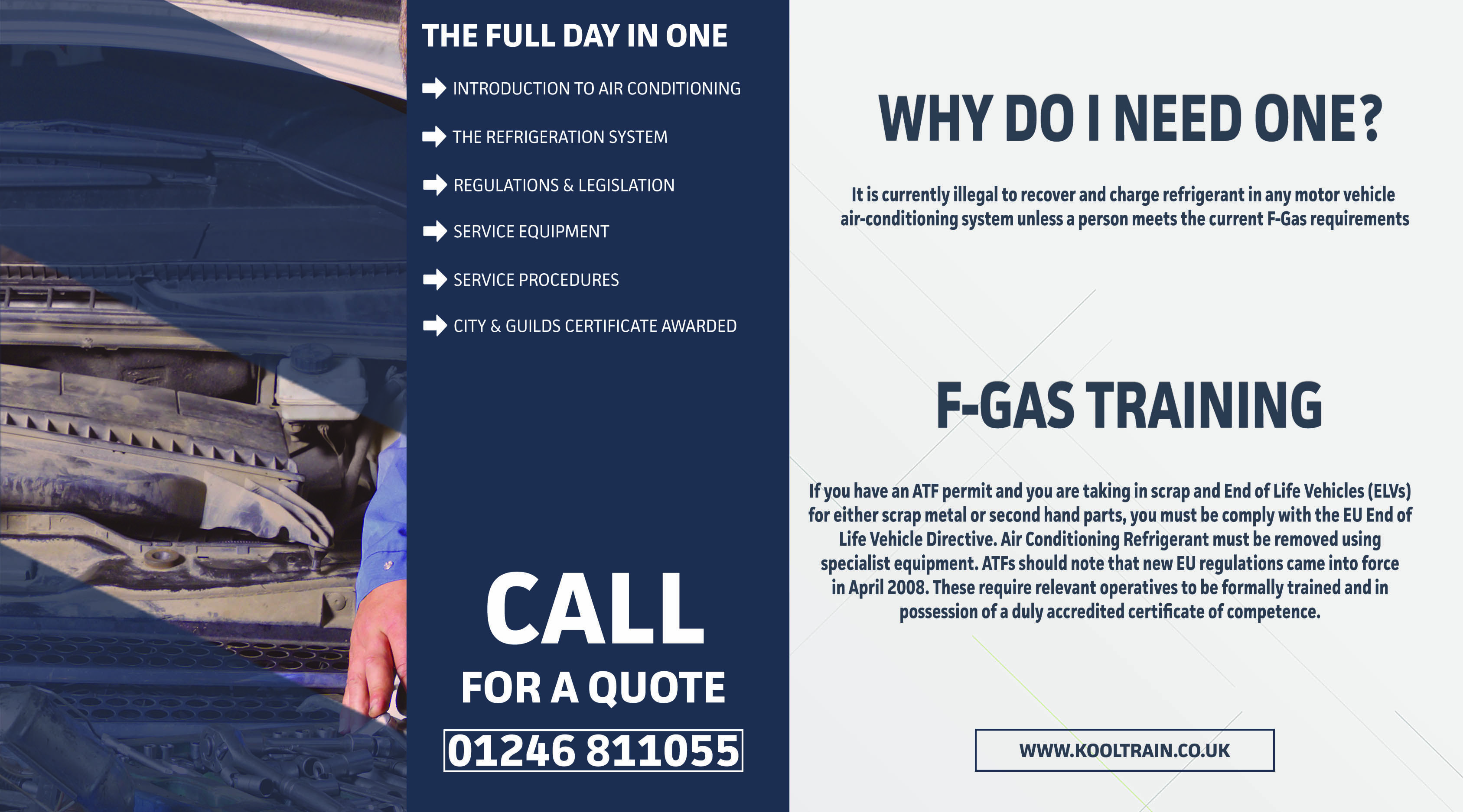 DID YOU KNOW? If you do not have a FGAS qualification It