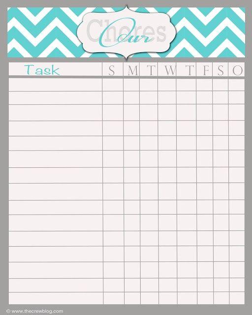 Printable Weekly Chore Chart Free Weekly Chore Chart Printable