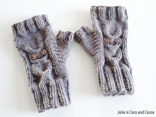 Owl Gloves Free Knit Pattern from Julie is Coco and Cocoa. Aren t these b2bade7580fb