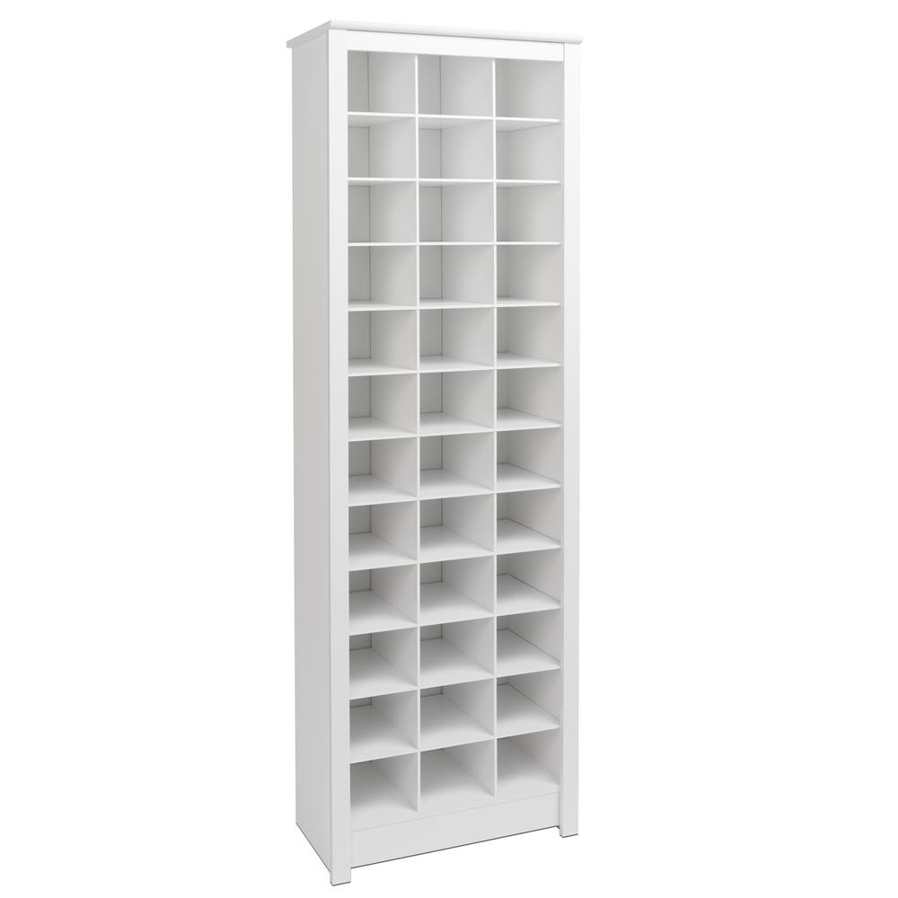 Prepac White Space Saving Shoe Storage Cabinet Wusr 0009 1 The Home Depot Space Saving Shoe Rack Shoe Storage White Closet Shoe Storage