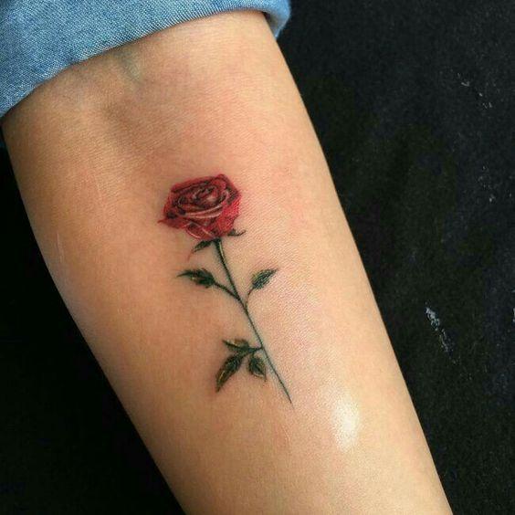 100 Trending Watercolor Flower Tattoo Ideas For Women Rose Tattoos On Wrist Small Rose Tattoo Single Rose Tattoos