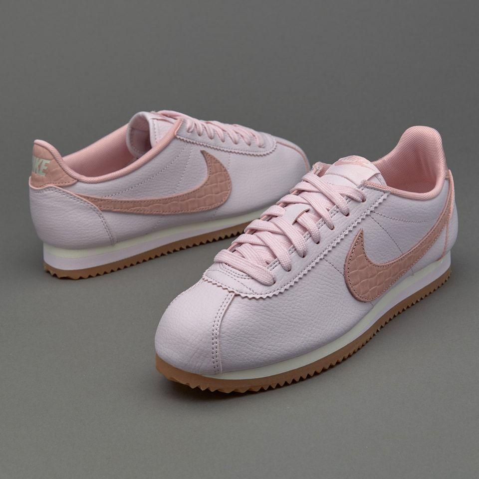 nike sportivi femminili classico cortez cuoio lux perla rosa