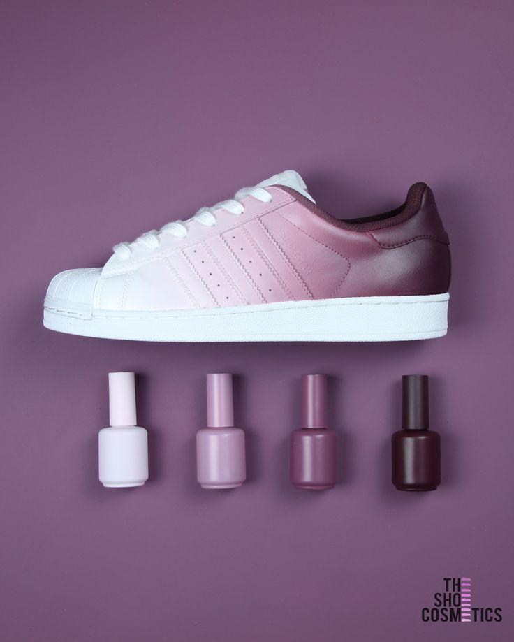 Superstar Personnalisées Chaussures Burgundy En Adidas Ombre 7yfgYb6