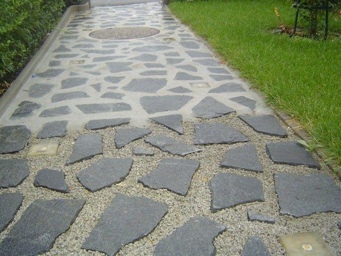 Der Klassiker In Der Gartengestaltung Polygonalplatten Gartengestaltung Garten Landschaftsbau Garten