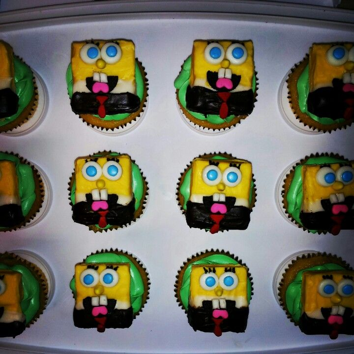 Spongebob Edible Cupcake Toppers Edible Cupcake Toppers