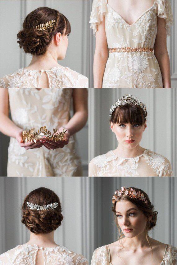 Greek Goddess Laurel Leaf Crown, Silver Tiara, Bridal Tiara, Leaf Crown, Silver Leaf Tiara #100