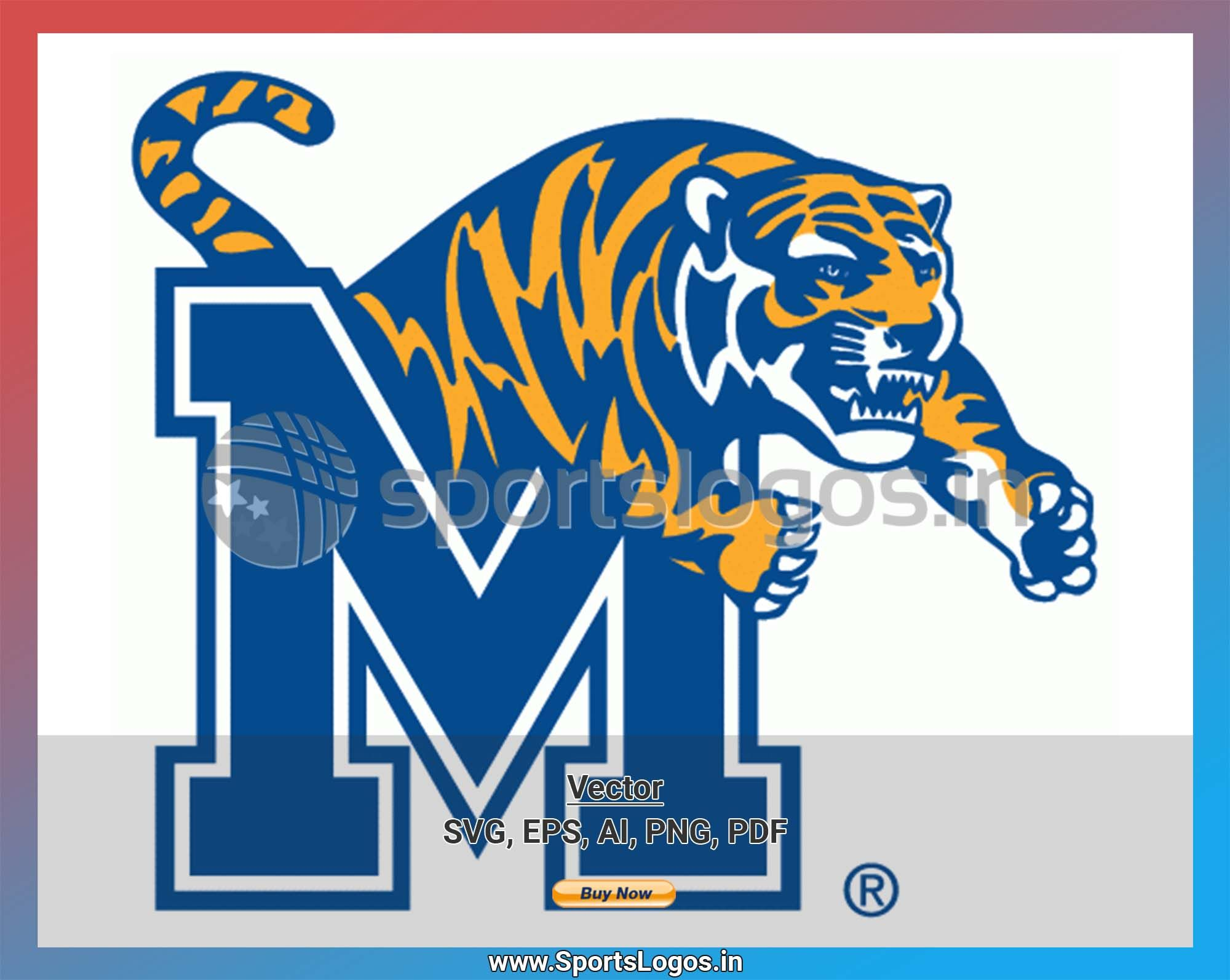 Memphis Tigers College Sports Vector SVG Logo in 5
