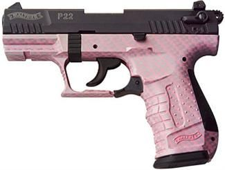 Don't come in my house....or prepare to die from a pink gun! Walther P22 pistol babay!