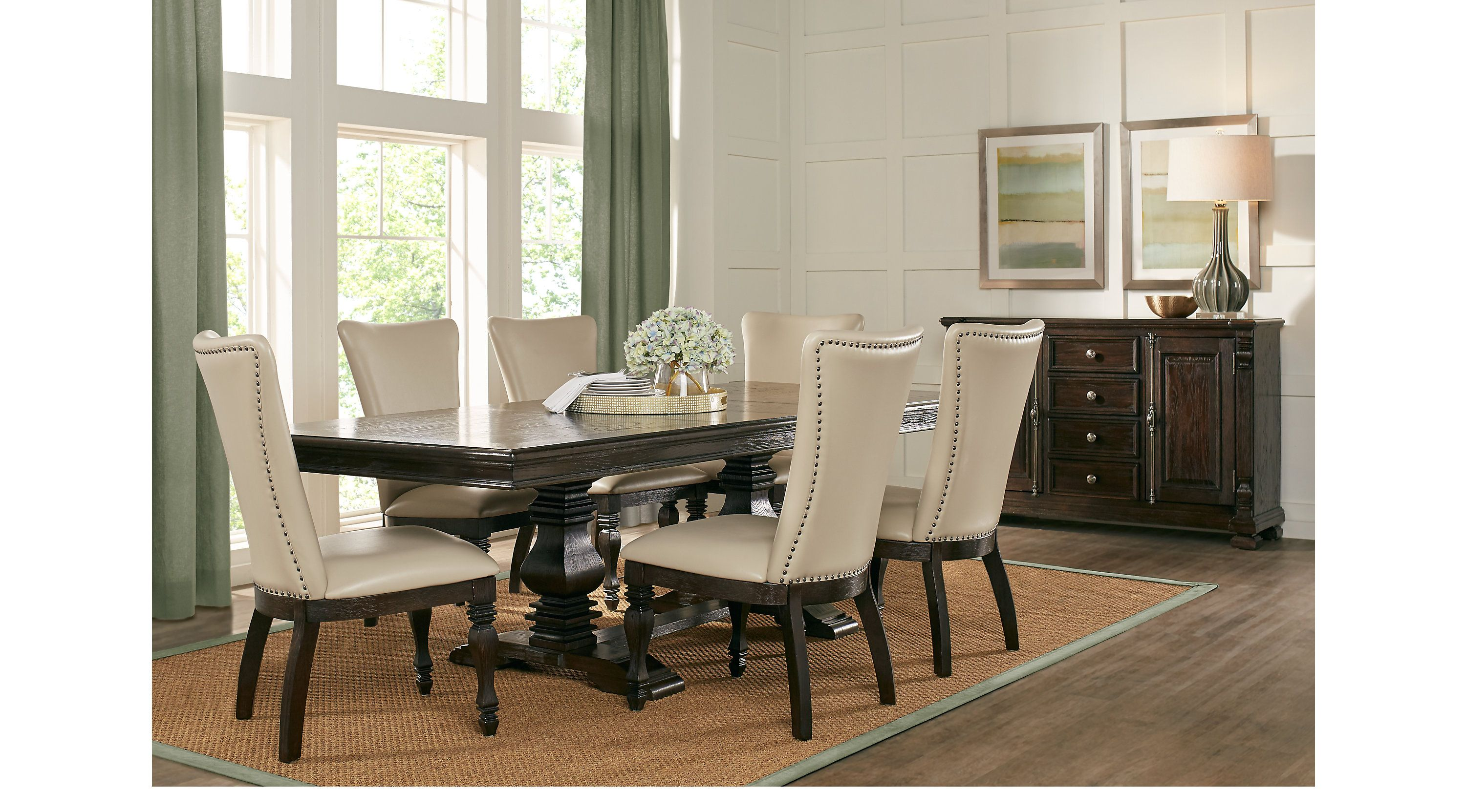 Dining Room Sets Rooms To Go San Luis Oak 7 Pc Rectangle Dining Room 4241604p Rectangle Dining Table Dining Room Sets Dining Table Dimensions
