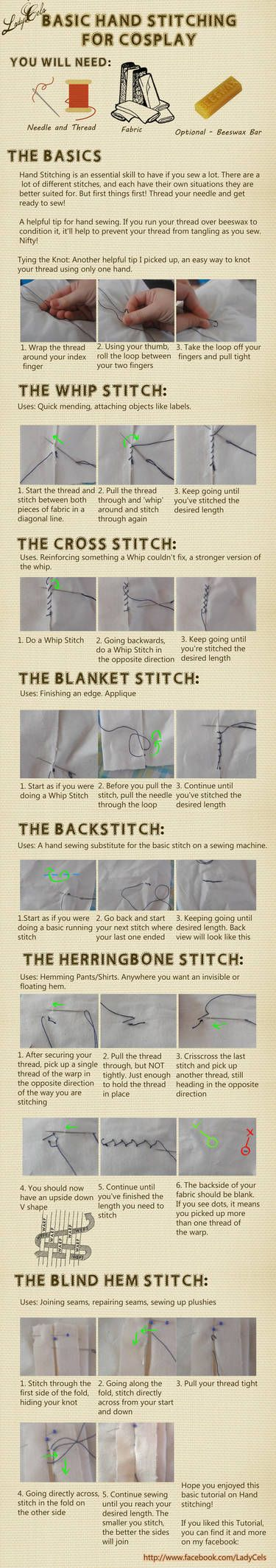 Hand stitching for Cosplay Tutorial by DragonLadyCels ...