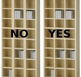 improved ikea benno cd shelf. Black Bedroom Furniture Sets. Home Design Ideas