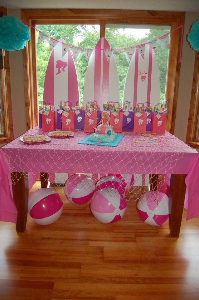 Image result for malibu barbie themed shower ideas for Decoration ideas 7th birthday party