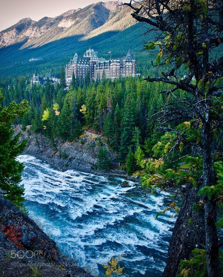 Popular on 500px : Bow river and Banff springs hotel #2 by SatoruKikuchi