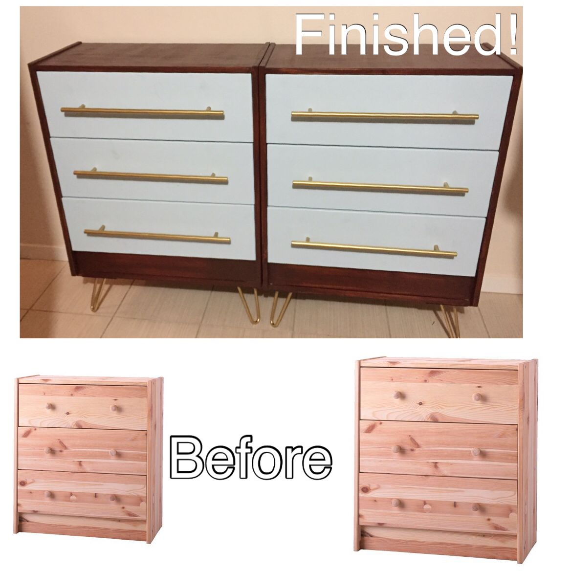 My Ikea Rast Dresser Upgrade Wood Stain Paint Hardware