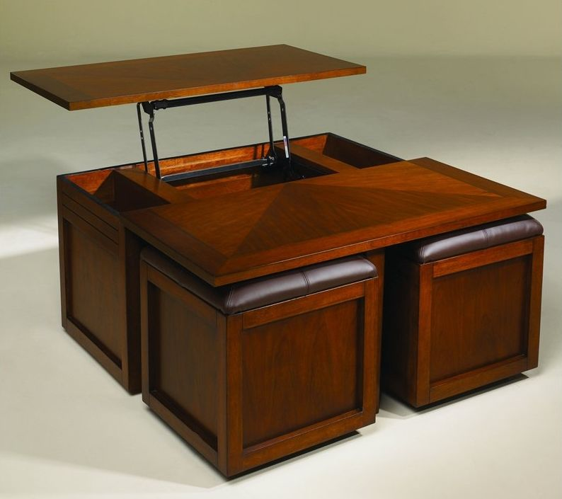 Lift Top Coffee Table Of Goodies Featured Product Hammary - Coffee table with stools