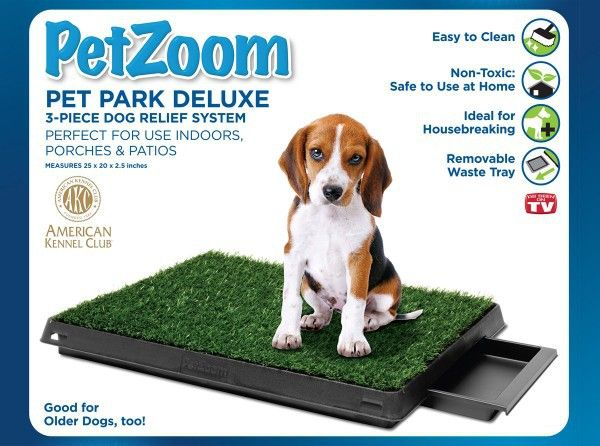 The perfect tool for training puppies to go potty without having to step…