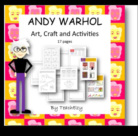 Andy Warhol Biography Information For Kids Kids Art Pinterest