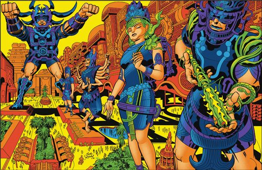 Jack Kirby: Brahma's Pavillons of Joy (1978; chine: Mike Royer, colori: Mark Englert) - Quando Jack Kirby e Barry Geller provarono a cambiare il mondo /1 di 2