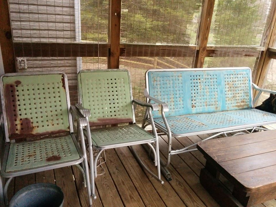 How To Restore Vintage Metal Gliders And Patio Furniture And Turn Rust Into  Must Have Furniture!