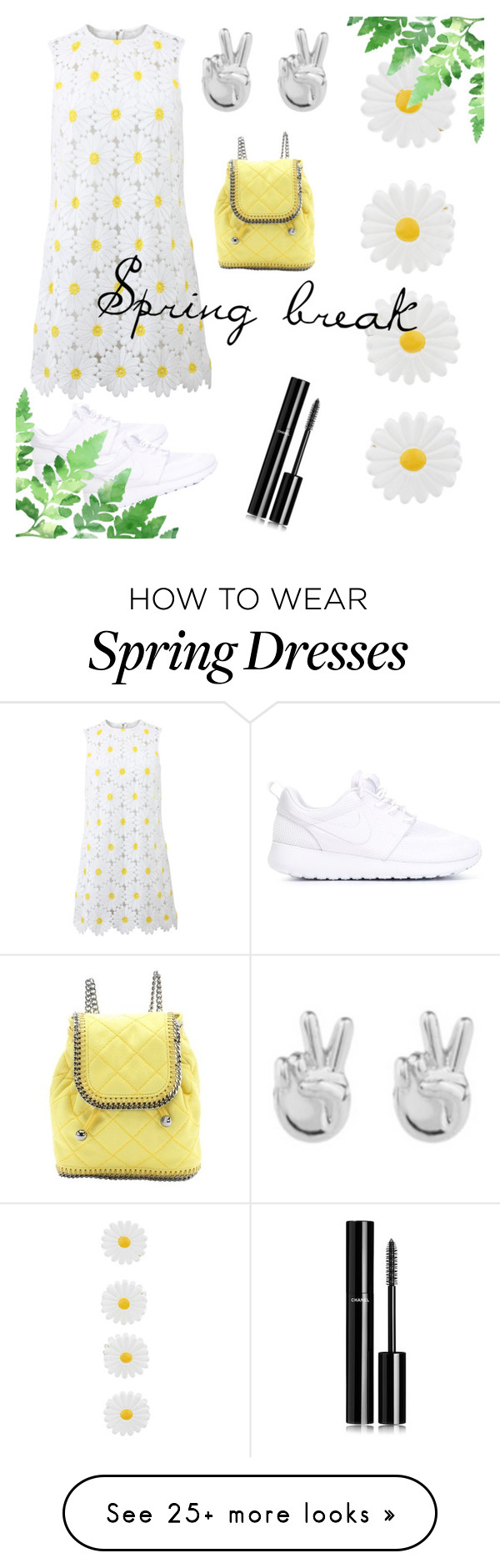 """Spring break"" by andreea-pug on Polyvore featuring Dolce&Gabbana, NIKE, Accessorize, Rock 'N Rose, Chanel and STELLA McCARTNEY"