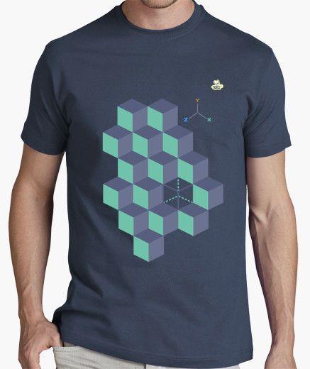 Camiseta Cubos 3D Camiseta hombre clásica 84e34973e300c