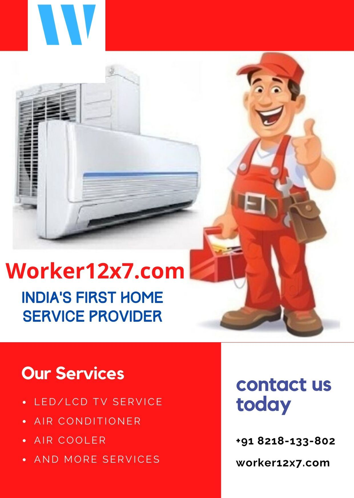 Worker12x7 Home Service Provider in 2020 Air conditioner