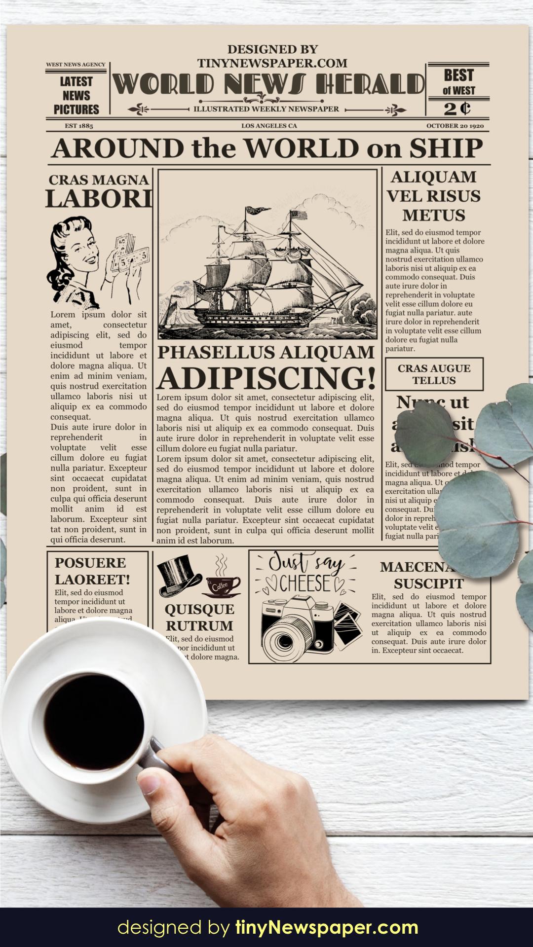 Blank Old Newspaper Template