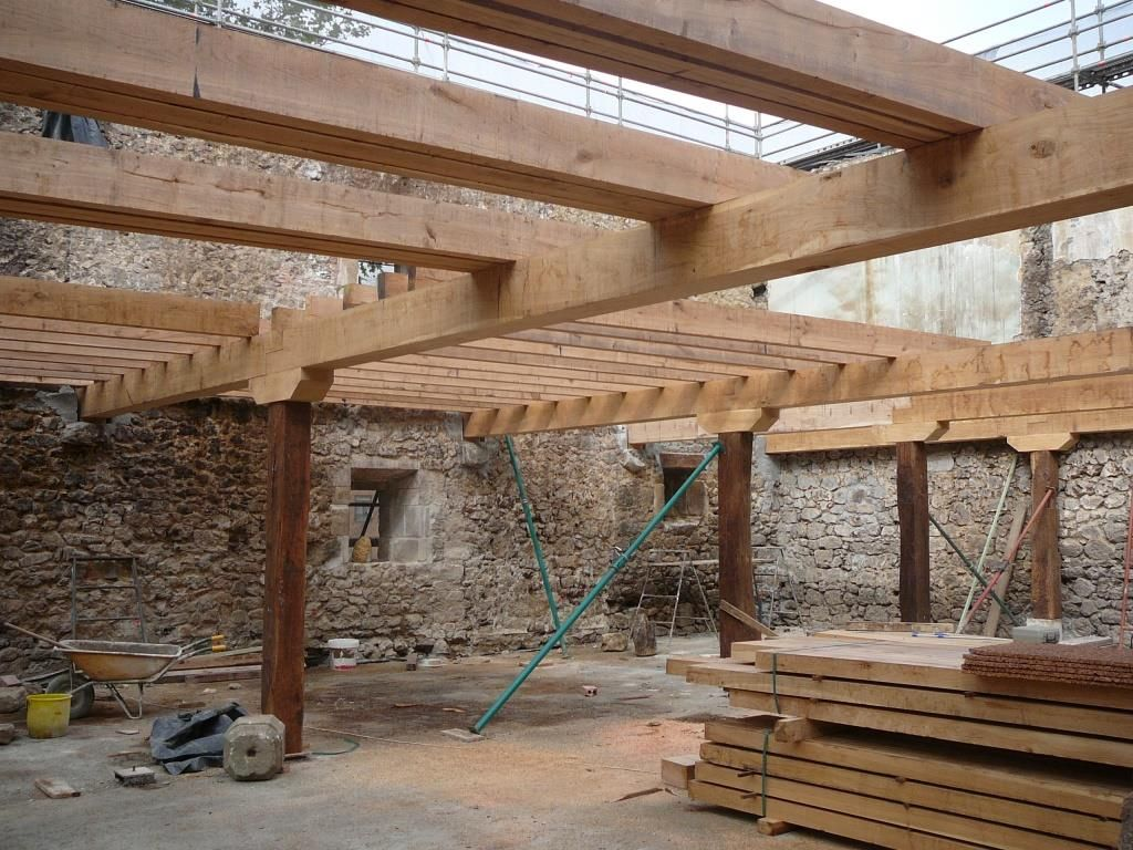 Rehabilitaci n caser o arrasate recupeando madera original estructura techos pinterest - Estructuras de madera para techos ...