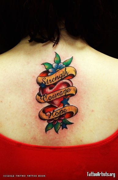 72f8b3cc7 Strength And Courage Tattoo Designs Strength courage hope | Strength ...