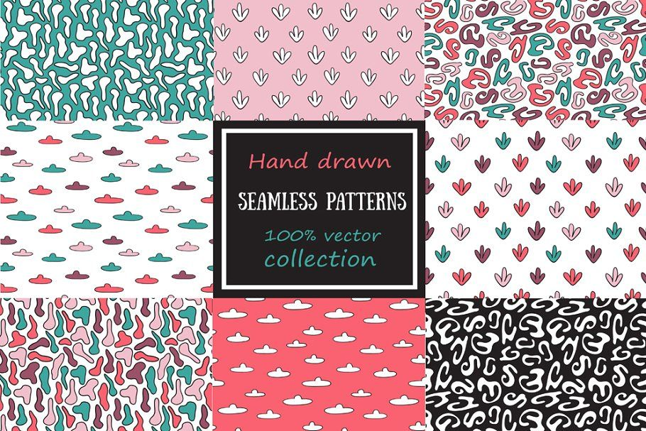 Photo of Three cute floral vector patterns #Sponsored , #PAID, #tiling#seamlessly#pattern…