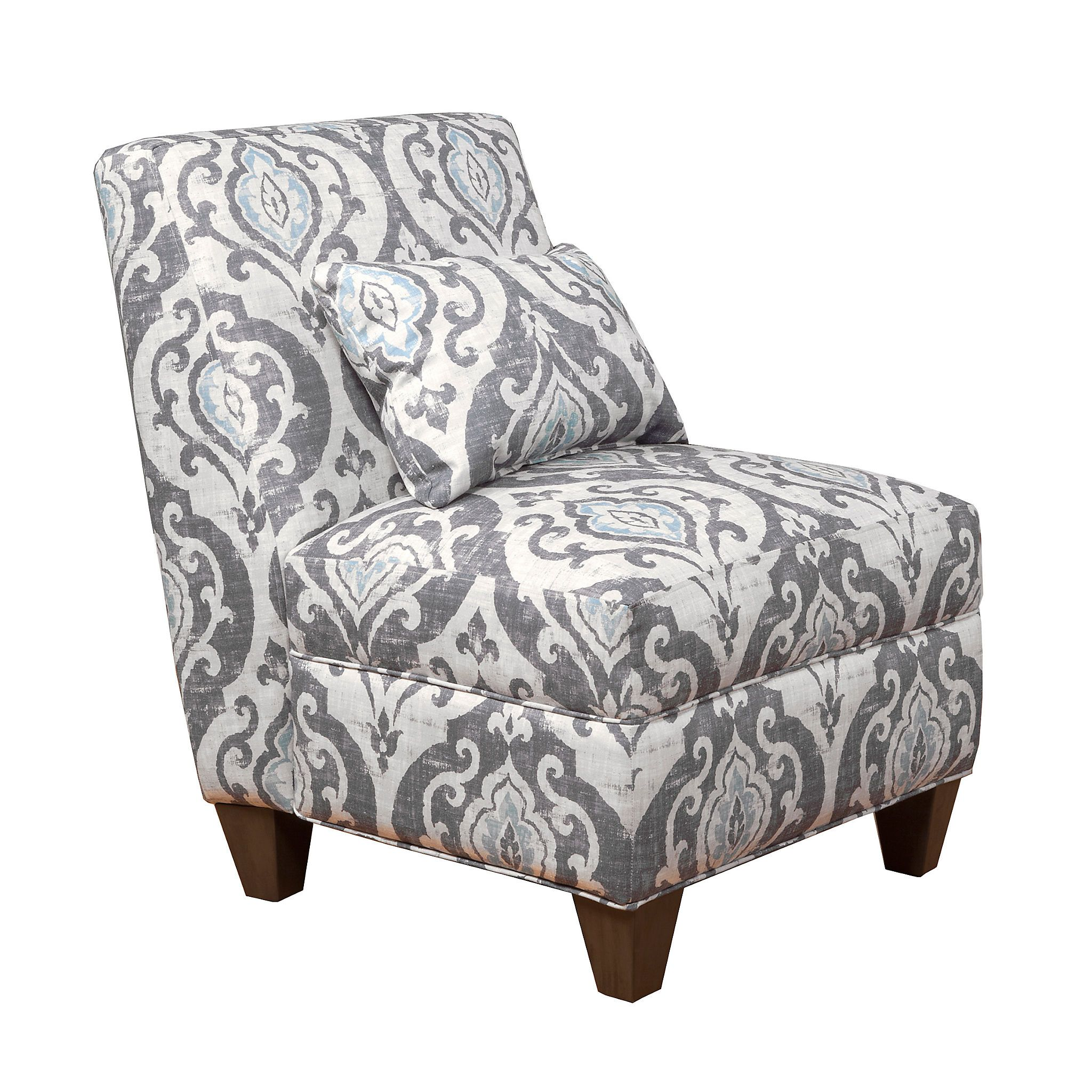 slate blue ikat slipper chair | slipper chairs, slate and cozy place