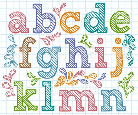 Hand Drawn Font  Small Shaded Letters Design Elements Download