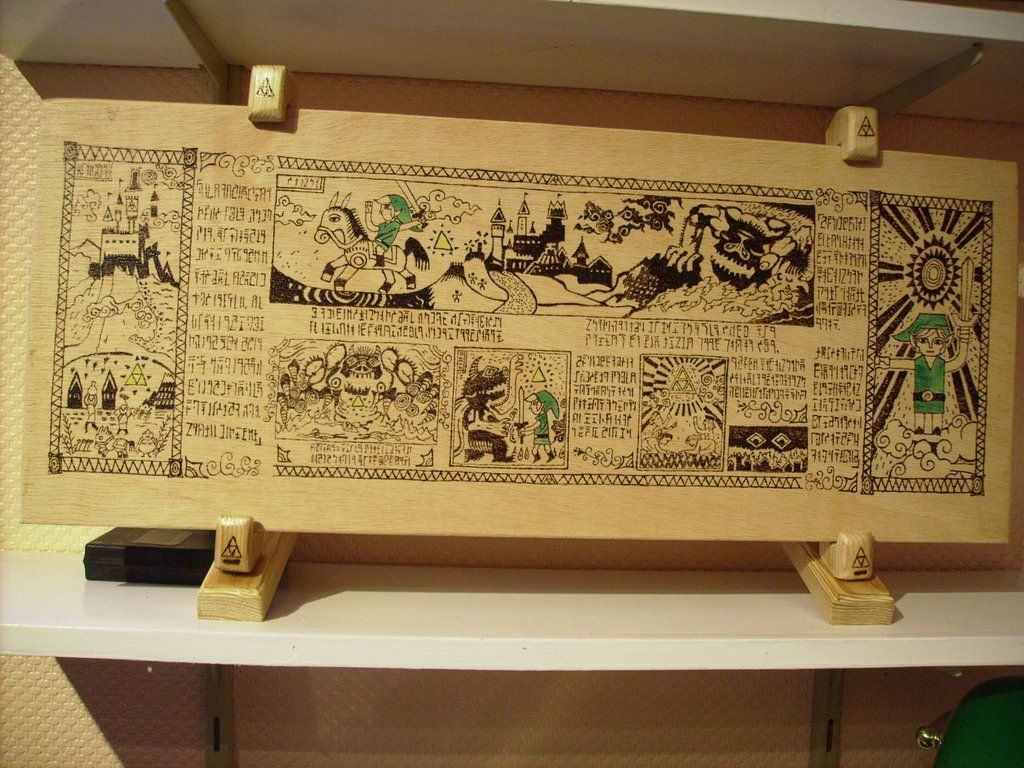 The Legend of Zelda in pyrography by tokita59 on DeviantArt