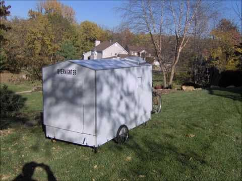 This Is An Amazing Pop Up Bike Camper With Kitchen And Bathroom